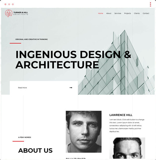 Architect Web Design Company