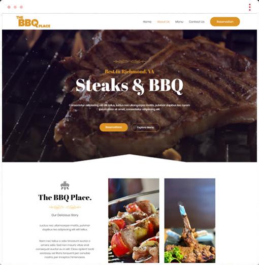 BBQ Resstaurant Web Design Company