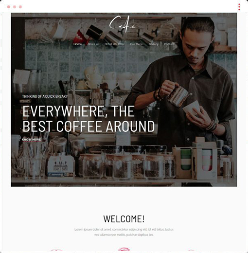 Cafe Web Design Company