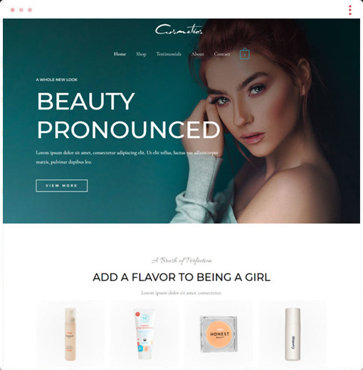 Cosmetics Web Design Company