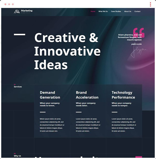 Marketing Agency Web Design Company