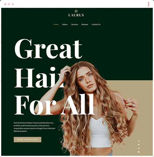 Hairdressers and Hair Salons Web Design Company