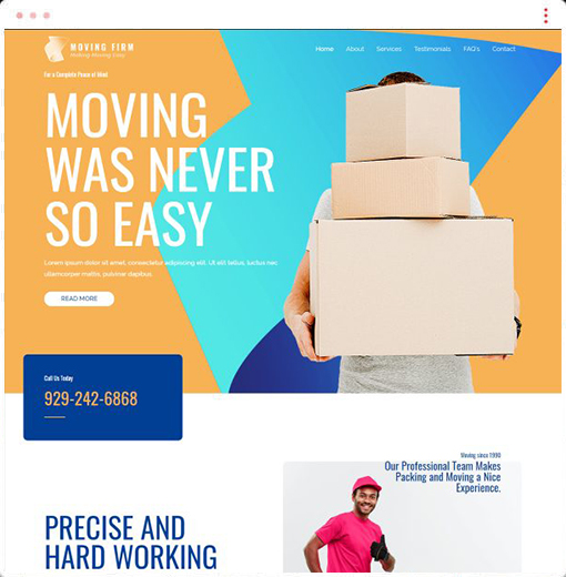 Moving Services Web Design Company