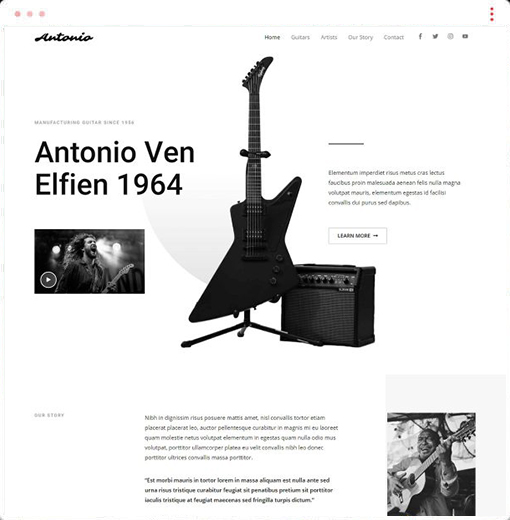Music Antonio Web Design Company