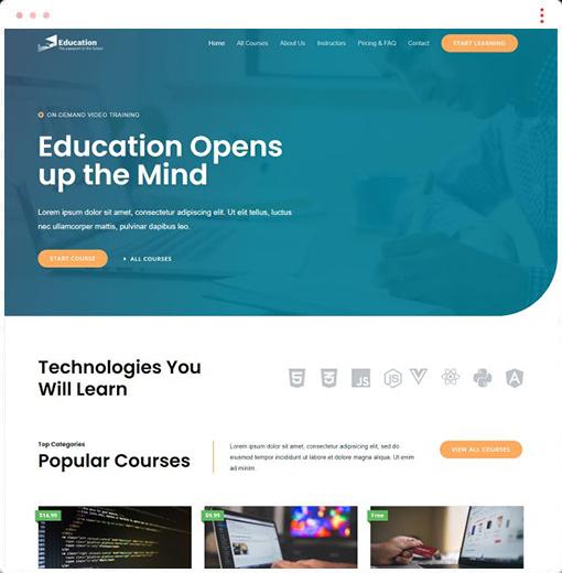 Online Courses Web Design Company
