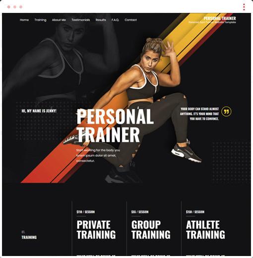 Personal Trainer Web Design Company